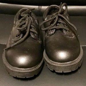 Little Boys Black Dress Shoes